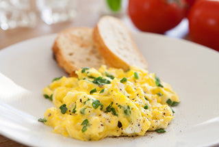 Scrambled eggs with truffle