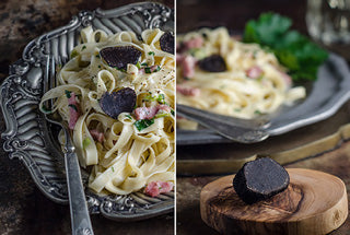 Truffle Fettuccine with Cream and White Wine