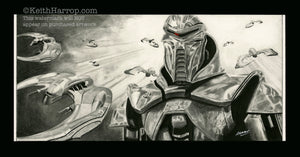 Battlestar Galactica - Pencil Illustration