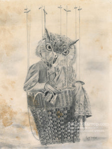 Animorphia #10 (Owl)- Pencil Illustration