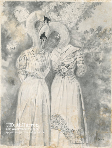 Animorphia #8 (Two Swans)  - Pencil Illustration