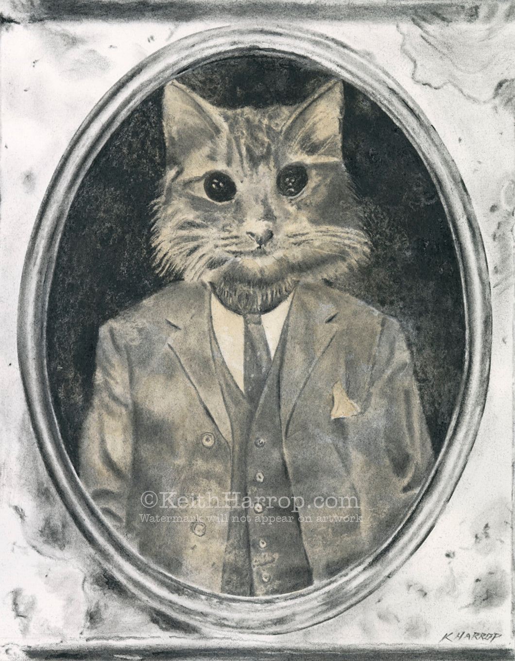 Animorphia #1 (Cat) - Pencil Illustration