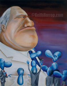 Tribute to a Corporate World - Oil Painting