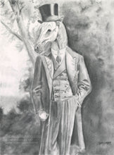 Load image into Gallery viewer, Animorphia #14 (Horse Standing)- Pencil Illustration