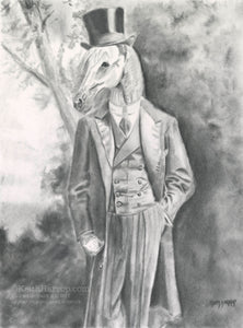 Animorphia #14 (Horse Standing)- Pencil Illustration