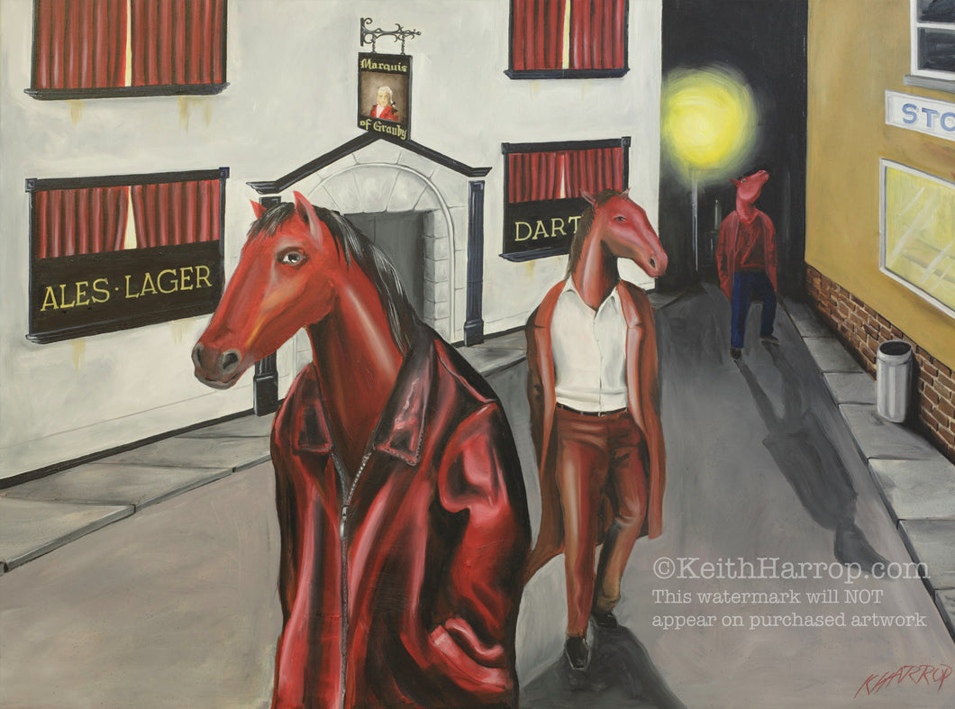 Horse Heads - Oil Painting