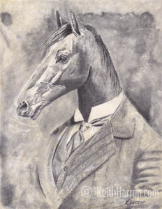 Animorphia #2 (Horse)- Pencil Illustration