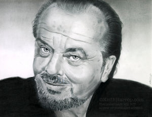 Jack Nicholson - Pencil Illustration
