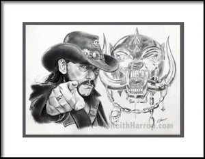 Lemmy Kilmister / Motorhead - Pencil Illustration