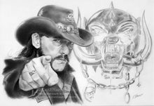 Load image into Gallery viewer, Lemmy Kilmister / Motorhead - Pencil Illustration