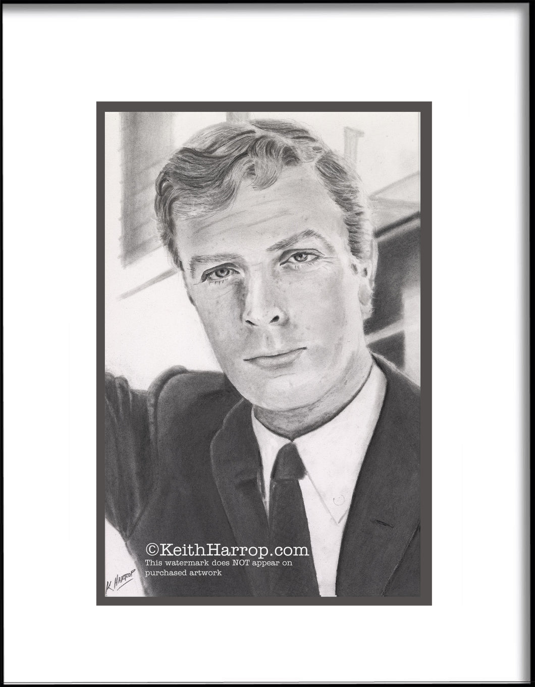 A Young Michael Caine - Pencil illustration