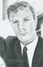 Load image into Gallery viewer, A Young Michael Caine - Pencil illustration