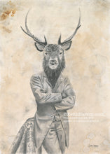 Load image into Gallery viewer, Animorphia #12 (Stag)- Pencil Illustration