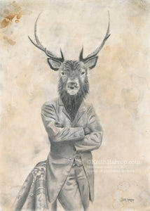 Animorphia #12 (Stag)- Pencil Illustration