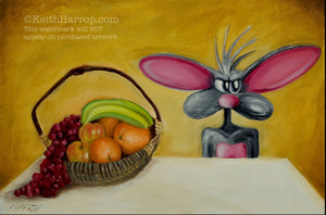 Still Life With Rat - Oil Painting