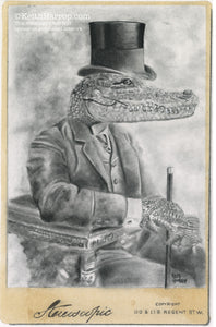 Animorphia #15 (Alligator) - Pencil Illustration