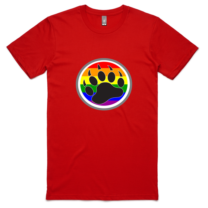 gay pride flag bear claw