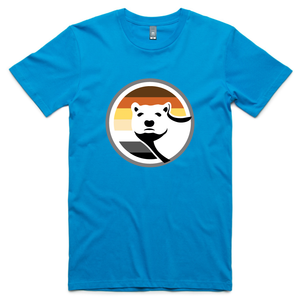 Gay Bear Pride T-Shirt - Arctic Blue
