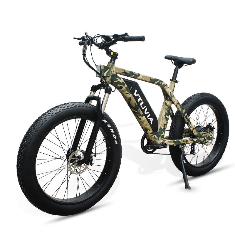 VTUVIA SN100 26 Inch Fat Tire Electric Mountain Bike, 750W Motor and 48V 13AH Samsung Battery