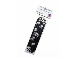 Bike Armor Downtube Shield Protector - Carbon Skull