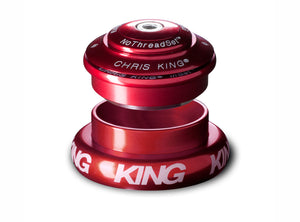 "Chris King Inset™ 7 Headset - 1.1/8"" - 1.5"" - Red"