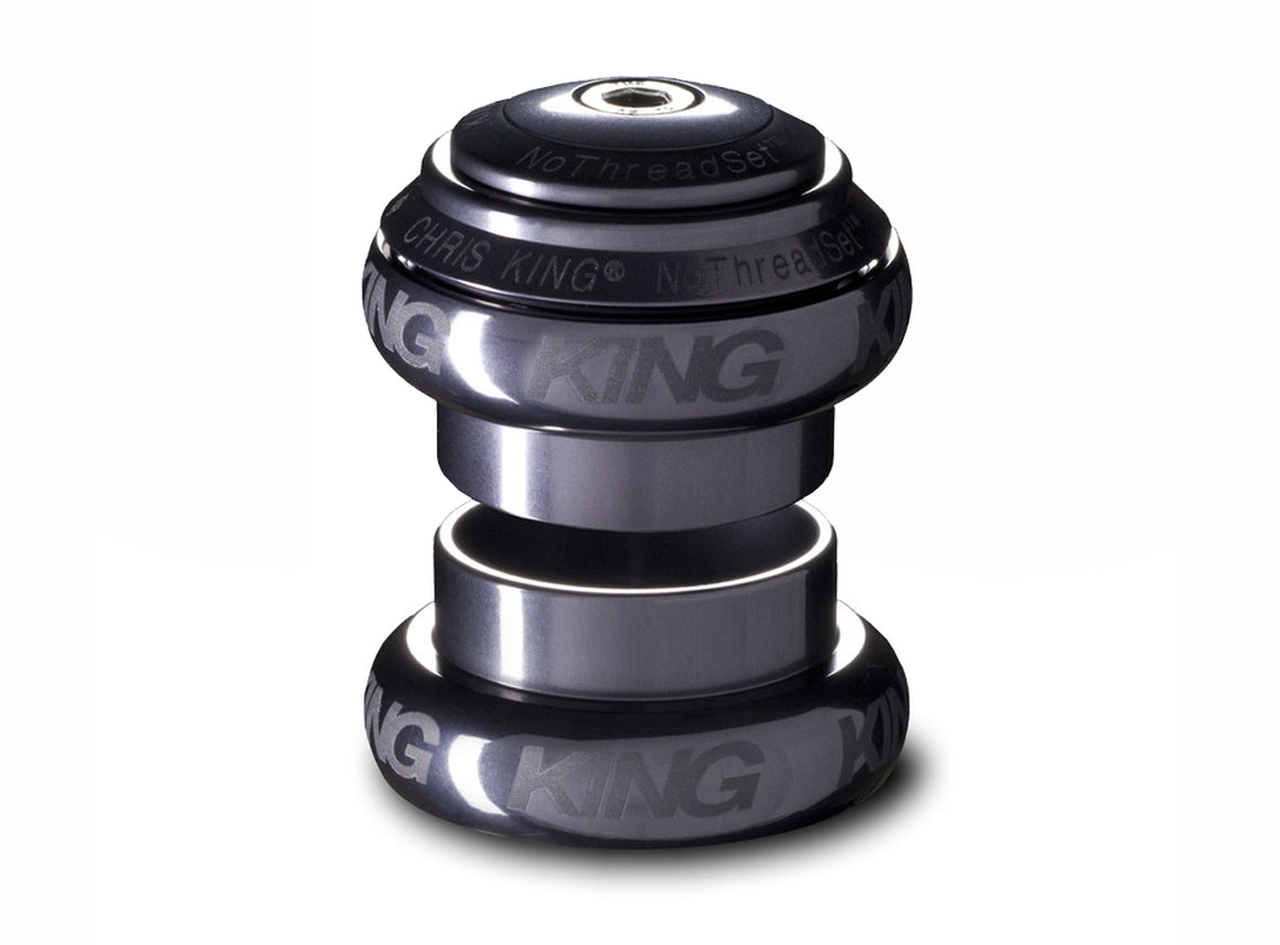 "Chris King No Threadset GripLock®1.1/8"" Headset-Sotto Voce-Pewter"