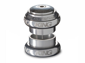 "Chris King No Threadset GripLock®1.1/8"" Headset-Sotto Voce-Silver"