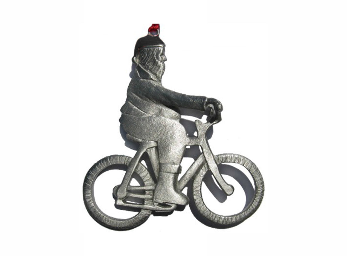 Creatively Yours Santa On Bike Ornament
