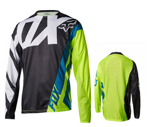Fox Racing Demo Long Sleeve Jersey - Black-Yellow
