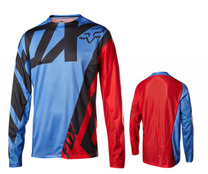 Fox Racing Demo Long Sleeve Jersey - Blue-Red