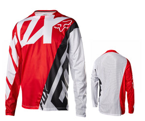 Fox Racing Demo Long Sleeve Jersey - Red-White