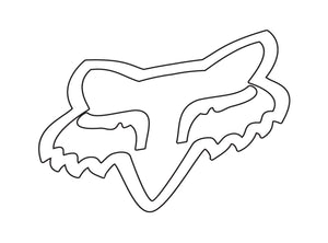 Fox Racing Foxhead TDC Sticker - 10""