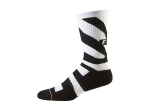 "Fox Racing 8"" Trail Cushion Sock - Zebra - 2019"