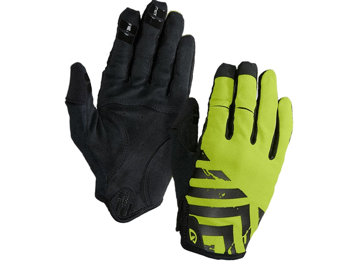 DND Adult Full Finger Bright Lime Army Green Cycling Glove Small Giro