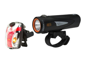 Light and Motion Urban 500 +Vis 180 Micro Onyx Rechargeable Light Set