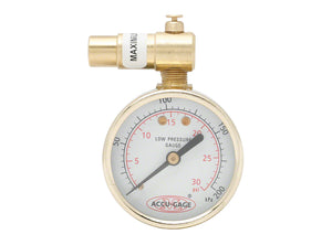 Meiser Dial Gauge with Pressure Relief - 30Psi Presta