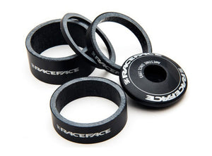Race Face Logo Carbon Headset Spacer Kit Inc Top Cap - 1.1/8""