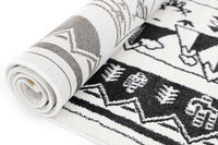 Playhouse Kid'S Black White Camping Adventure Rug