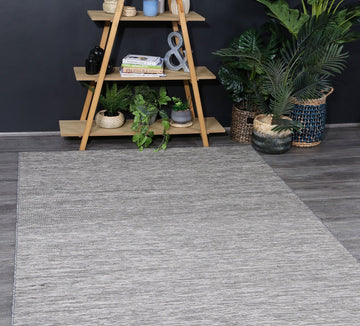 Dahlia Reversible Indoor Outdoor Grey Black Rug