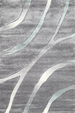 Aksu Grey Striped Rug