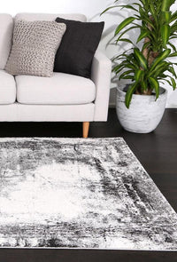 Angie Modern Distressed Grey Rug
