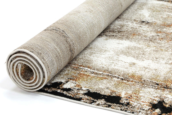 Angie Abstract Rust Beige Rug