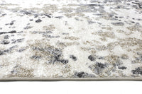 Angie Abstract Cream Grey Rug