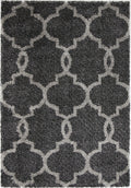 CHARLIE LATTICE CHARCOAL GREY SHAG