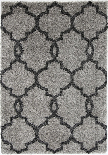 CHARLIE LATTICE GREY CHARCOAL SHAG