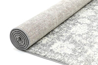 Monique Grey Distressed Modern Rug