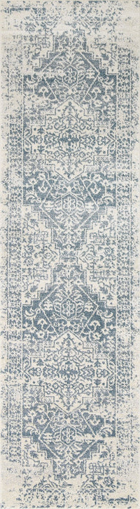 Monique Blue Modern Vintage Runner Rug