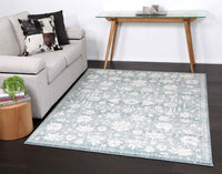Monique Modern Distressed Ziegler Turquoise Rug