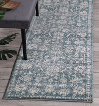 Symphony Modern Distressed Ziegler Turquoise Runner Rug