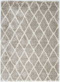 Autumn Diamond Brown Cream Shag Rug